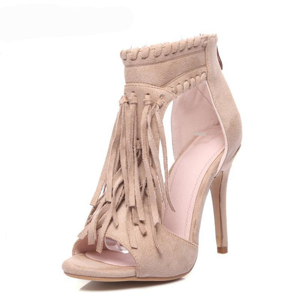 Women's Shoes - 2018 New Fashion Tassel Party High Heel Sandals