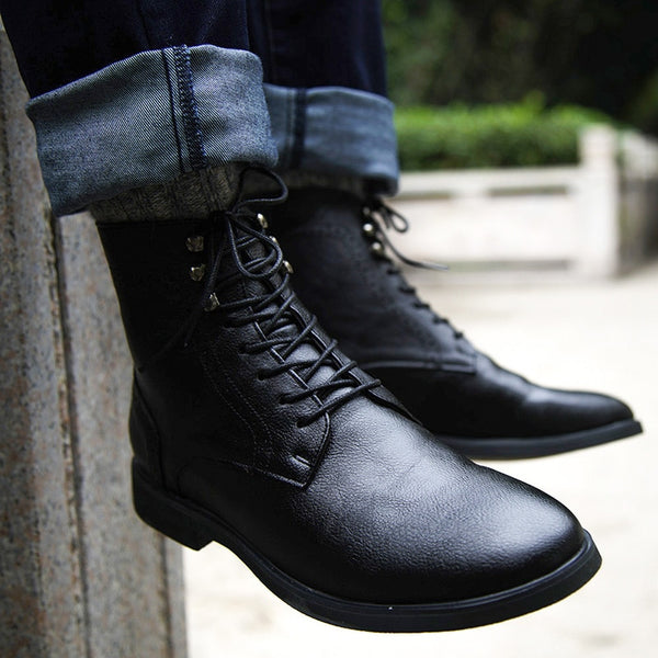 Shoes - Winter Fashion Male Lace Up Warm Ankle Boots