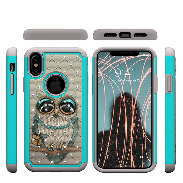 Phone Case - Glitter Diamond Cute Owl Shockproof Crystal Cover Case for iPhone