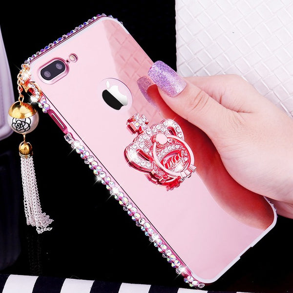 Butterfly Metal Bumper Case For Samsung Galaxy S7 Edge S8 S9 + Note 8