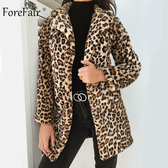 Women's Clothing - 2018 Plus Size Ladies Faux Fur Long Coat