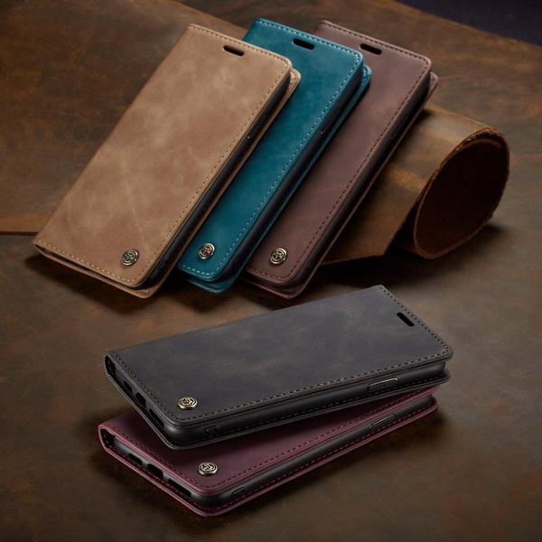 Case & Strap - Luxury Flip Retro Leather Card Holder Flip Case For iPhone 11/11pro/11 pro max/X/XR/XS Max 8 7 6 6s Plus