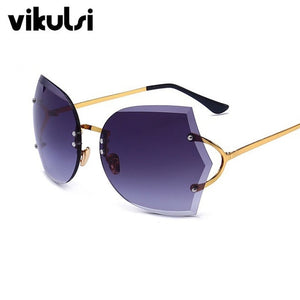 Gradient Elegant Optics Rimless Sunglasses