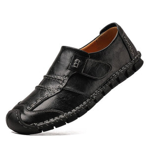 Classic Men Casual Shoes Retro Leather Loafers
