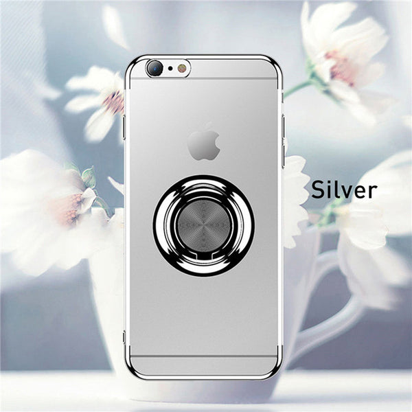 New Clear Ring Stand Holder Case For iPhone