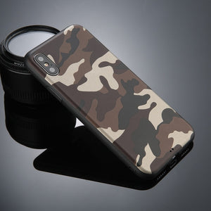 ArmyGreen Leather Soft TPU Cover Case For iPhone