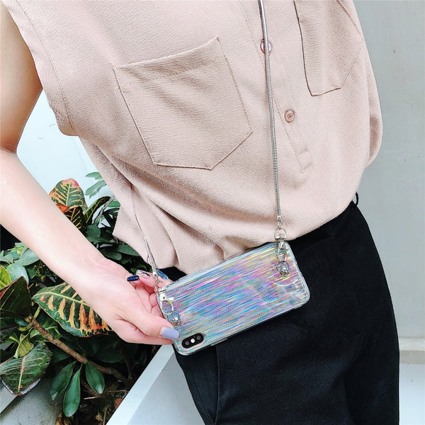 Phone Accessories - Crossbody Chain Laser Case Bag For iPhone