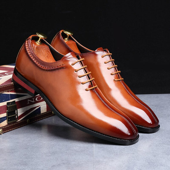 Men's Luxury Oxford Leather Dress Business Office Lace-Up Shoes(Buy 2 Get Extra 10% Off; Buy 3 Get Extra 20% Off)