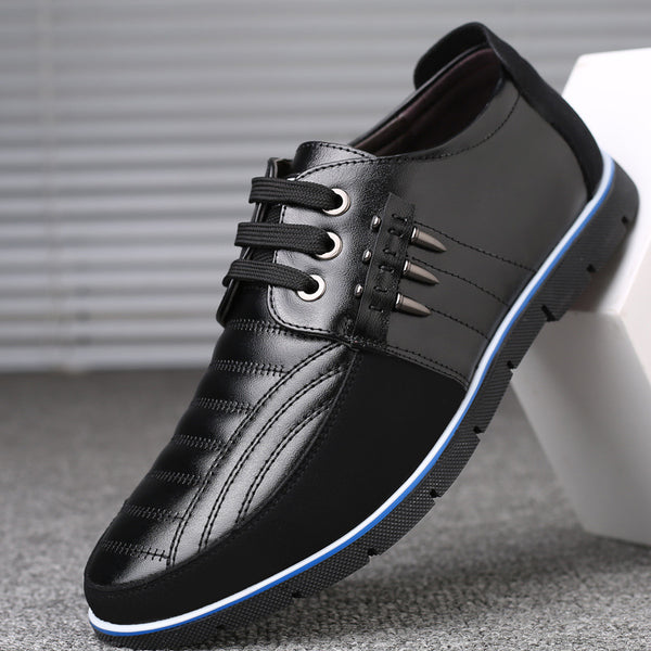 Shoes Men High Quality Leather Men Casual Flat Shoes