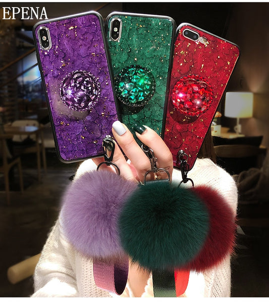 free shipping c7b84 ac421 Fashion Bling Case For Samsung Galaxy Note 8 9 S9 S8 S7