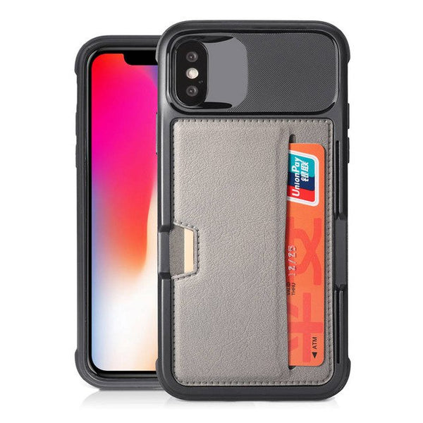 Anti-Fall Protection Card Slot Case For iphone 7 8 Plus X XS MAX XR