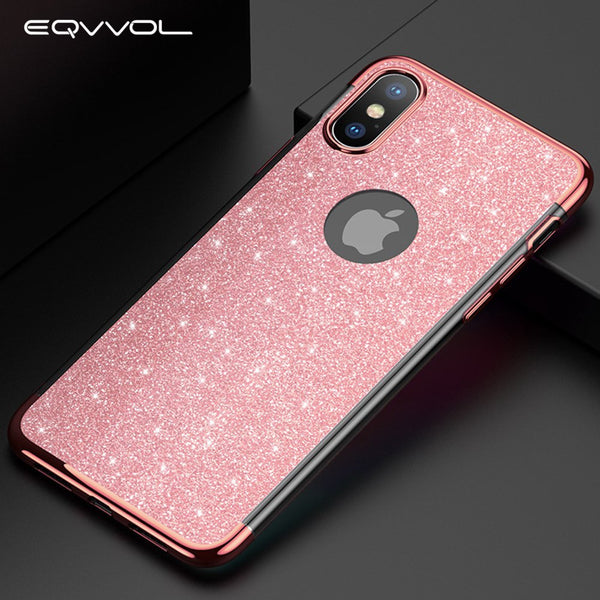 the best attitude 58594 030cc Phone Case - Luxury Fashion Glitter Plating Shockproof Phone Case For  iPhone X/XS/XR/XS Max