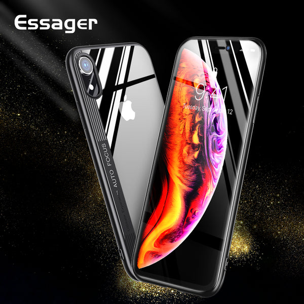 Luxury TPU + Hard PC Clear Cover For iPhone XSMax XS XR