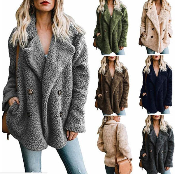Women's Clothing - 2019 Winter Buttoned Casual Quilted Coat