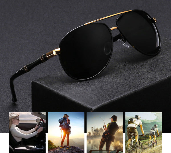 Classic Brand Aluminum HD Polarized Sunglasses For Men