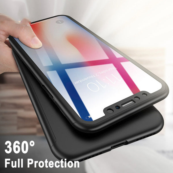 Phone Case - Luxury 360 Degree Full Protective Phone Case With Free Tempered Glass Film