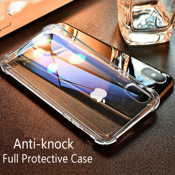 Phone Case - Luxury Transparent Soft TPU Protection Shockproof Phone Case For iPhone X/XC/XS/XS Plus