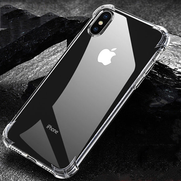 Phone Case - Luxury Ultra Thin Transparent Soft Silicone Shockproof Phone Case For iPhone X/XS/XR/XS Max