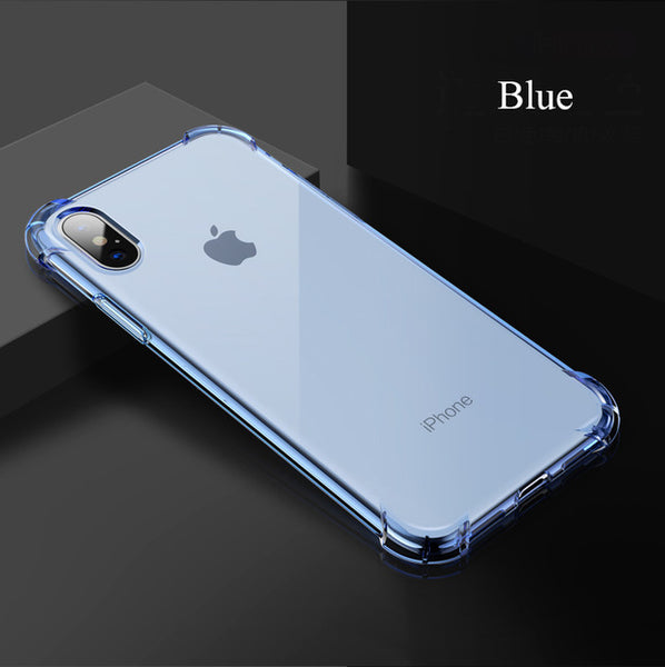 Phone Case - Luxury Clear Transparent Soft Silicone Shockproof Cover For iPhone X 8/7 Plus