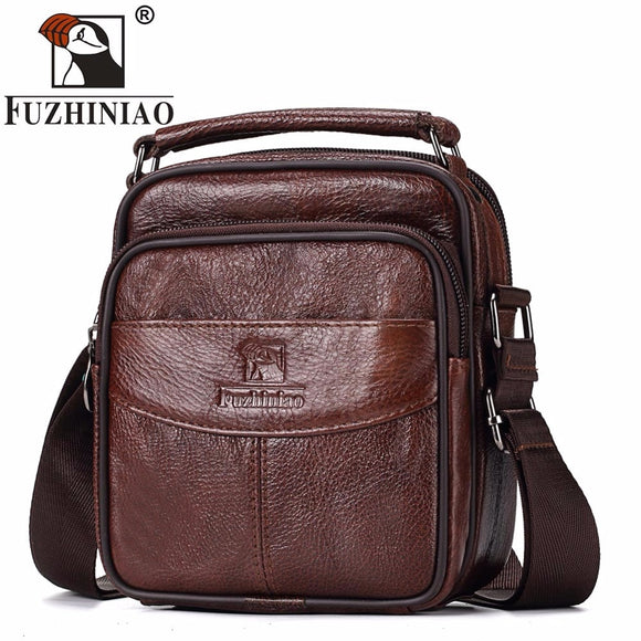 TOP Quality New Casual Multi Function Travel Genuine Leather Bag