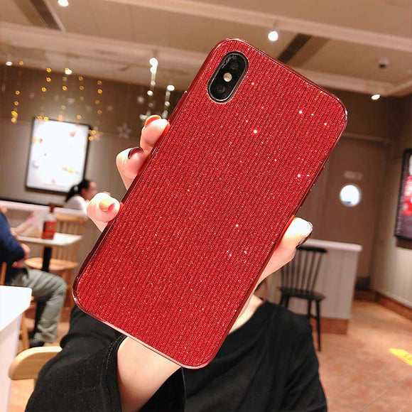 Luxury Fashion Cloth Glitter Phone Case For iPhone