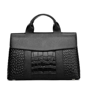 Fashion Alligator Serpentine Top-Handle Bag
