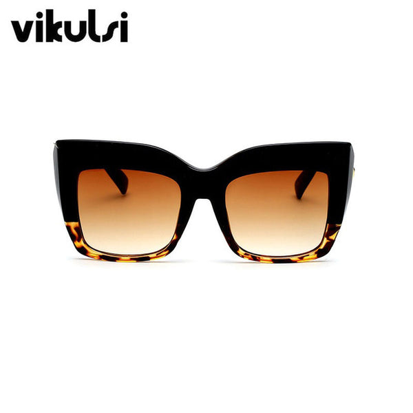 Sunglasses - Ladies' Oversized Vintage Square Sunglasses