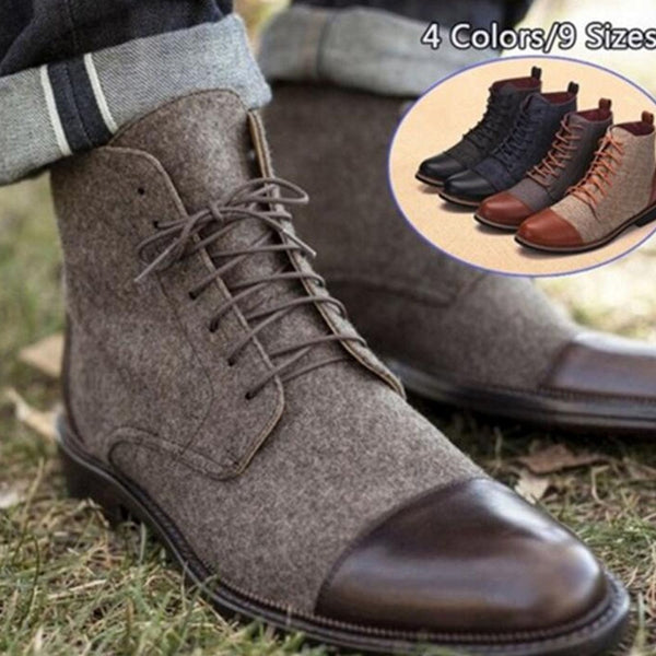 b3222876bb07 Men's Shoes - Spring Autumn Casual Business Ankle Boots