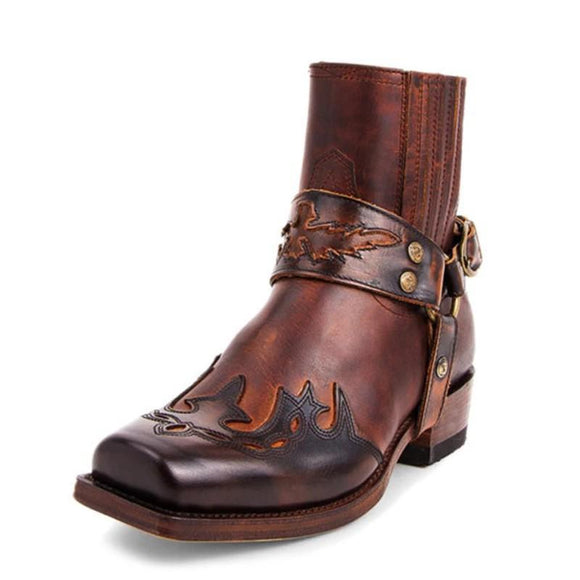 Kaaum Fashion Rome PU Leather Retro Boots