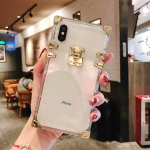 Phone Case - Fashion Square Clear TPU Case for iPhone X XS MAX XR