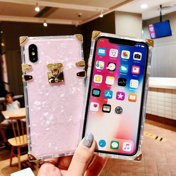 size 40 29146 dd548 Phone Case - Fashion Square Clear TPU Case for iPhone X XS MAX XR
