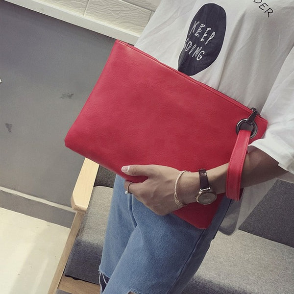 Bags-2018 New Fashion Leather Envelope Bag