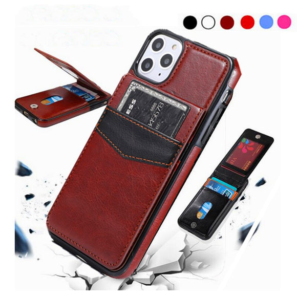 3D Flip Retro Leather Card Wallet Case For iPhone 12 pro mini