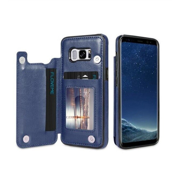 Phone Case - Luxury Flip Leather Wallet Cases For Samsung S10 S10+