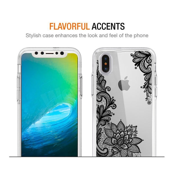 Phone Case - Luxury 3D Lace Flower Soft Silicone Protective Phone Case For iPhone XS/XR/XS Max 8/7 Plus