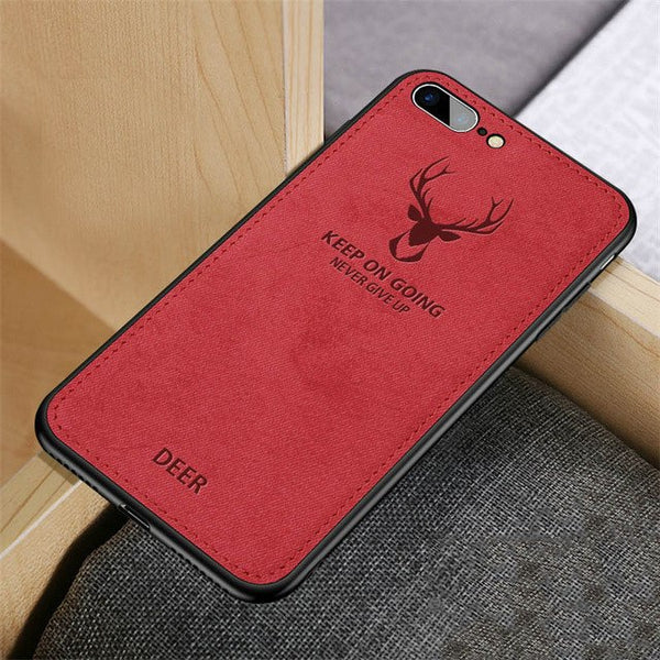 Fabric Vintage Deer Soft Cloth Art Shell Case For Samsung Galaxy Note 8 9