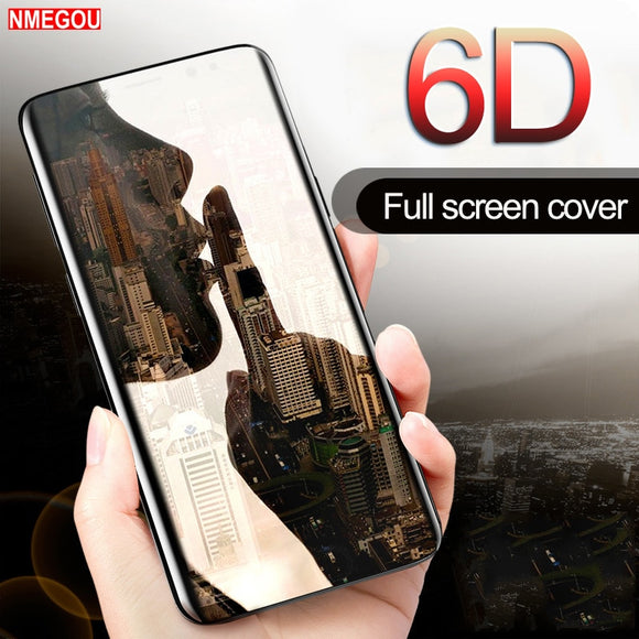 Phone Accessories - 6D Curved Glass Full Cover Screenprotector Guard Film For Samsung Galaxy