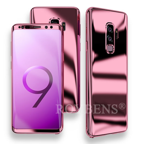 huge selection of e3aa9 ec398 Luxury Ultra Thin Bling Mirror 360 Full Protection Cover For Galaxy S9 Plus  Case + Soft Film