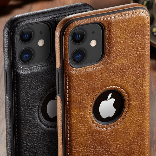 Phone Case-Luxury Business Genuine Leather Case Cover for iphone