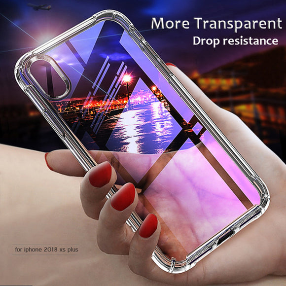 Phone Case - Luxury Anti-knock Soft TPU Transparent Silicone Protective Back Cover For iPhone X 8/7 Plus