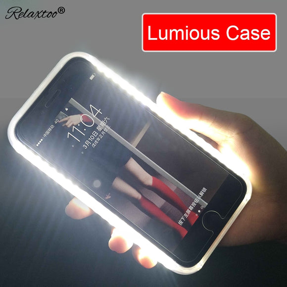 Luminous Luxury Flash Selfie Light Up Glowing Case For iPhone