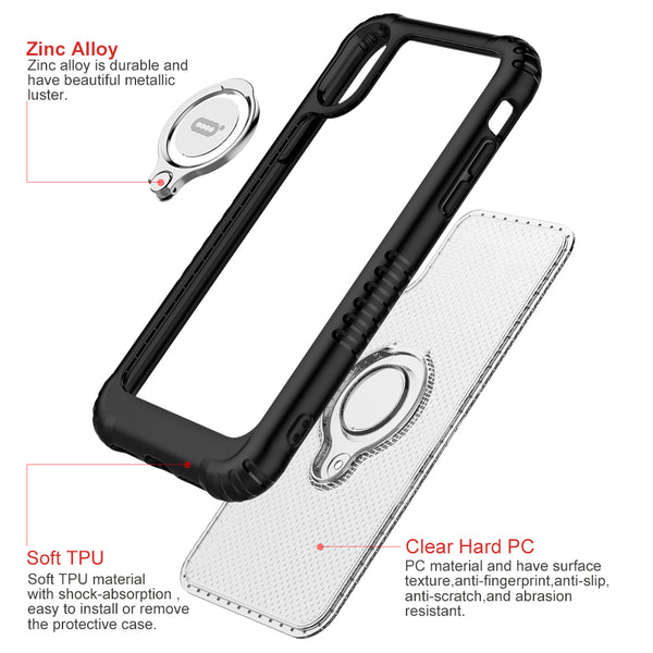 Shockproof Ultra Thin Transparent Hard PC Magnetic Phone Cases For iPhone