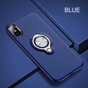 Phone Case - Luxury Magnetic Bracket Ring Holder Shockproof Armor Phone Case For iPhone X/XS/XR/XS Max