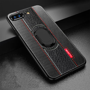 Phone Accessories - 2019 Luxury Magnetic Suction Bracket Finger Ring Soft Case For iPhone
