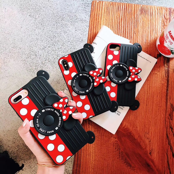Cute 3d Cartoon Shoulder Strap Case For iPhone X XR XS Max