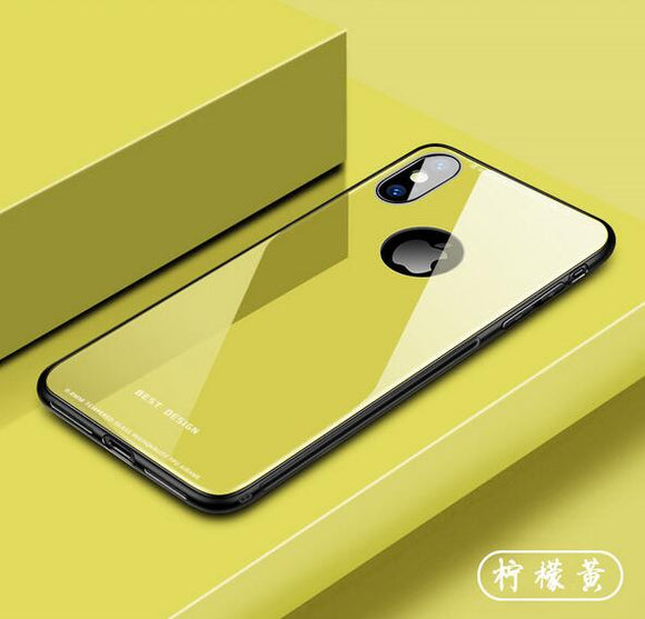 Phone Case - 2019 Luxury Tempered Glass Soft TPU & Glass Back Cover Phone Case For iPhone XS/XR/XS Max 8/7 Plus