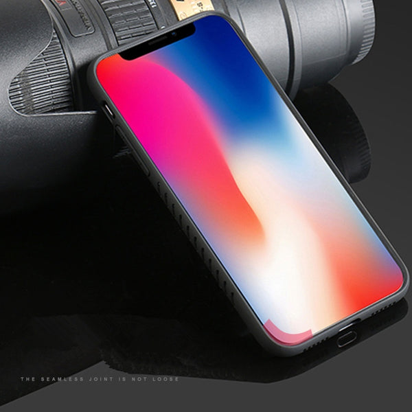 Phone Case - Luxury Acrylic Hard Clear Full Protective TPU & PC Shockproof Case For iPhone X 8/7 Plus