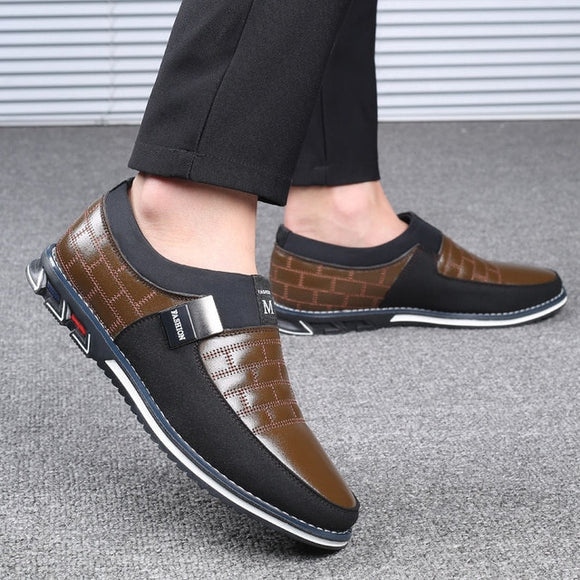 Kaaum- New Arrival Fashion Men's Business Leather Casual Slip On Shoes