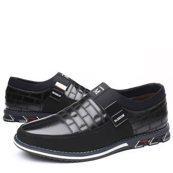 Kaaum-Men's Breathable Casual Fashion Leather Shoes