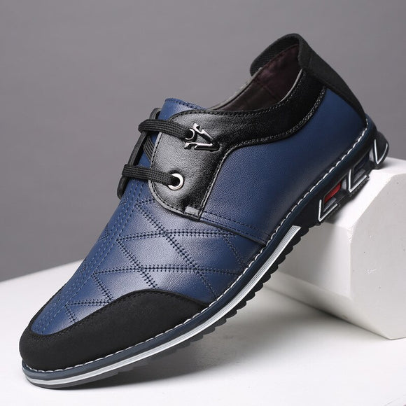 Kaaum Brand Genuine Leather Men Casual Shoes